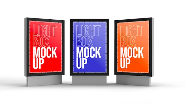 Lightbox mockup design isolato