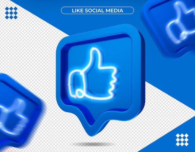 Come facebook nel rendering 3d isolato