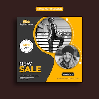 Modello di banner di vendita di social media in offerta limitata