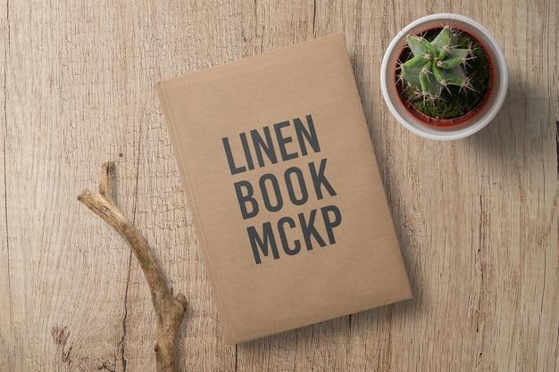 Design mockup di copertina del libro di lino