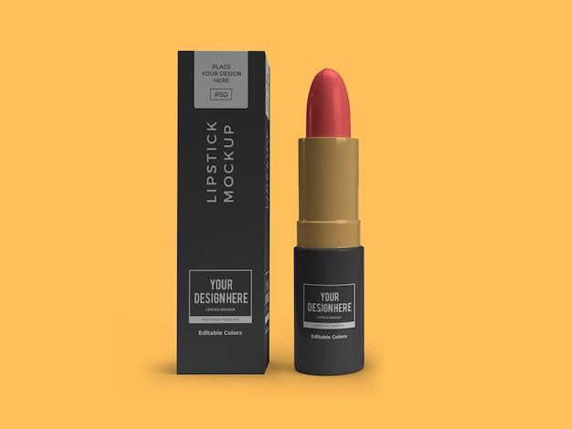 Modello di mockup cosmetico di rossetto isolato
