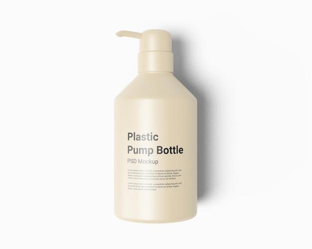 Bottiglia di plastica dispenser di sapone liquido con pompa mockup