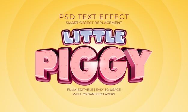 Piccolo effetto di testo piggy