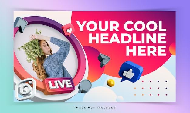 Modello di anteprima video di youtube per eventi live