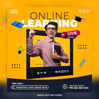 Apprendimento online in live streaming e modello di post sui social media