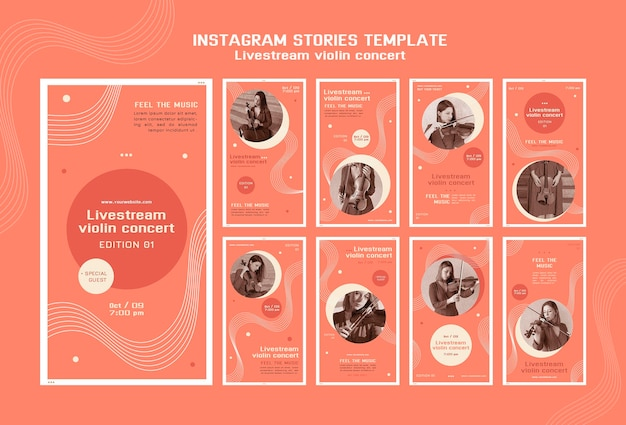 Livestream storie instagram concerto violino