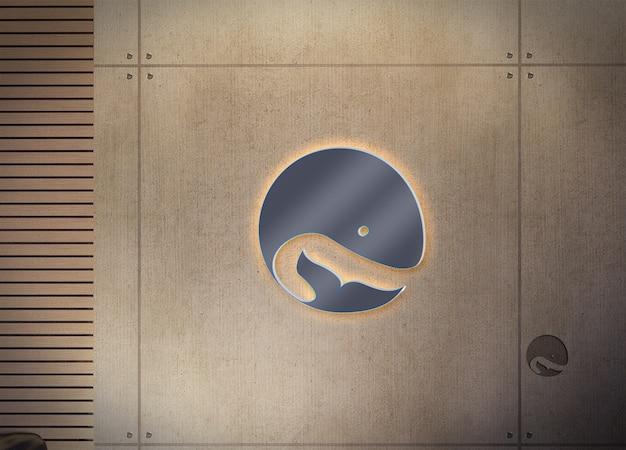 Mockup di progettazione del logo