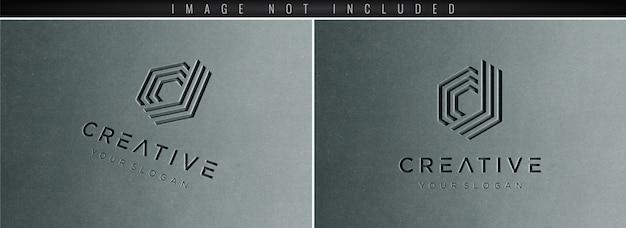Logo mockup 3d concreto