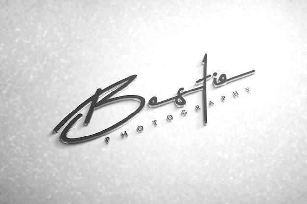 Logo mockup 3d moderno