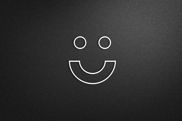 Mockup del logo su sfondo nero