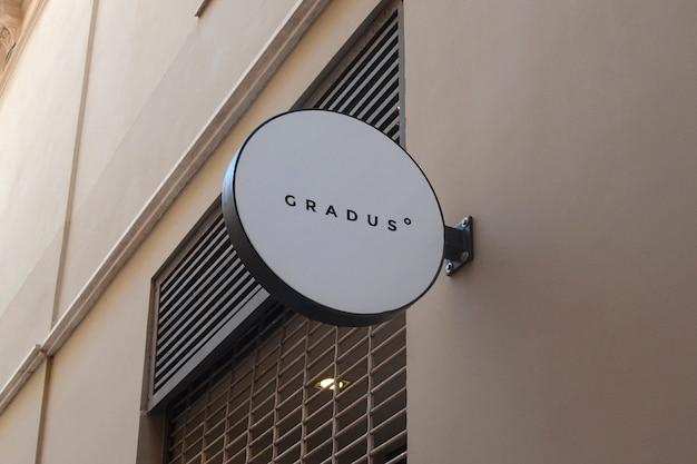 Logo mockup circolare segno bianco