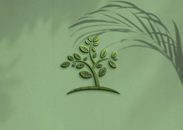 Design mockup logo per affari con sovrapposizione di ombre