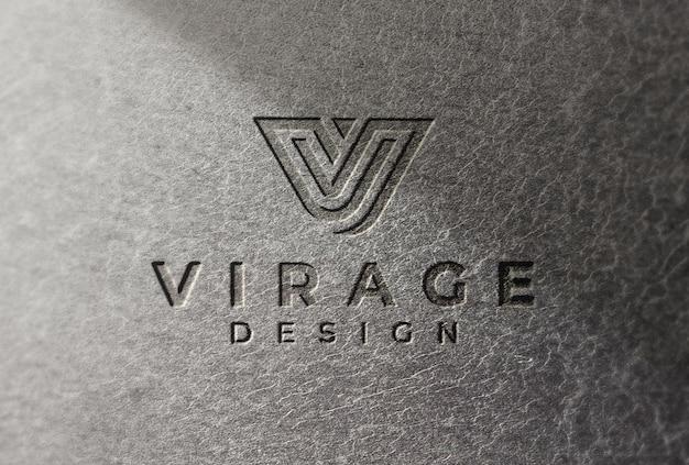 Logo mockup logo inciso su granit