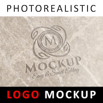 Logo mockup - logo inciso su marmo