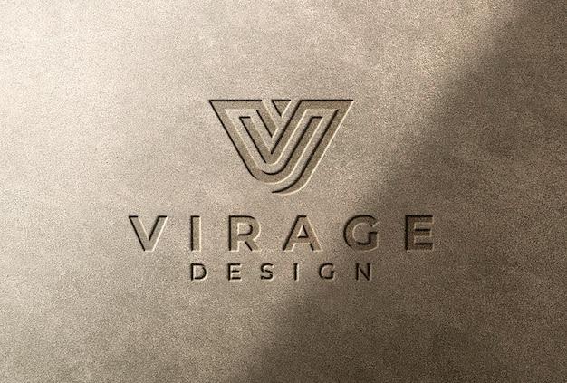 Logo mockup logo inciso con ombra