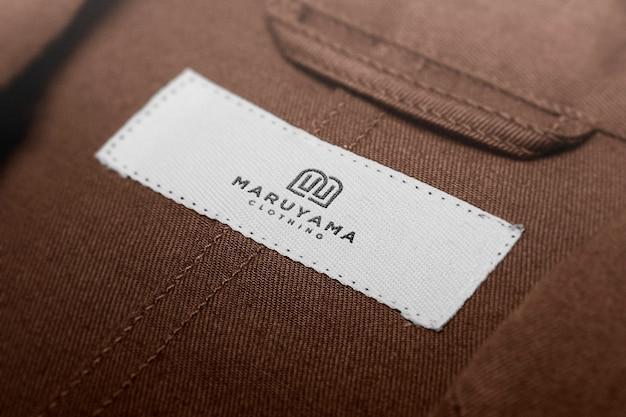Etichetta con etichetta logo mockup