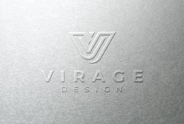 Logo mockup logo impresso su carta bianca