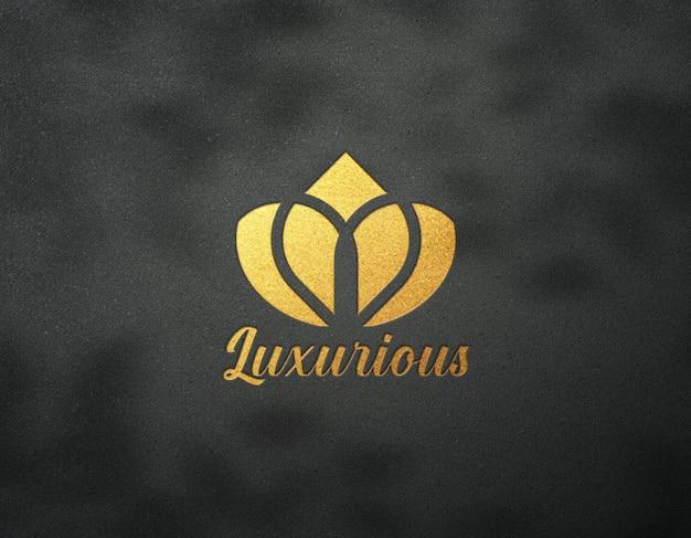 Logo mockup effetto dorato di lusso