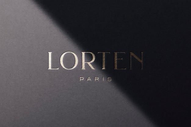Logo mockup luxury paper gold