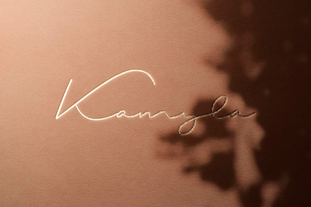 Logo mockup luxury paper con overlay shadow
