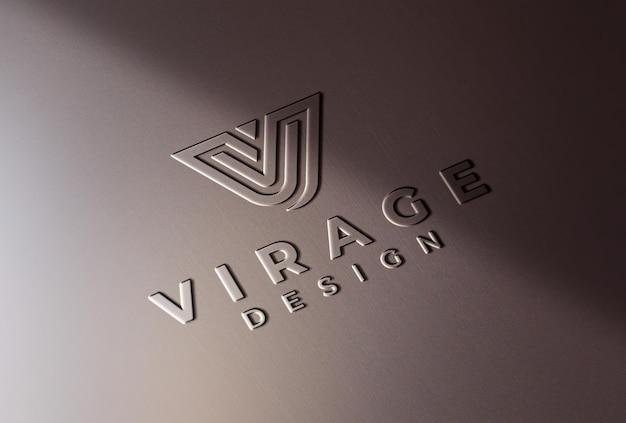 Logo mockup logo modellato su superficie in plastica