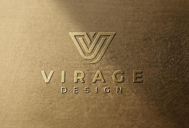 Logo mockup logo stampato con ombra