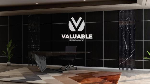 Logo mockup nella reception dell'ufficio