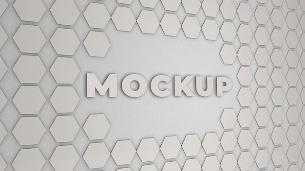 Logo mockup office wall 3d premium