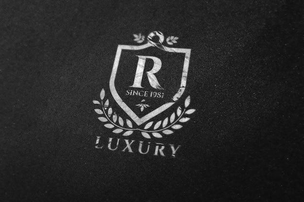 Mockup di logo per la pubblicità dell'identità aziendale del marchio di presentazione