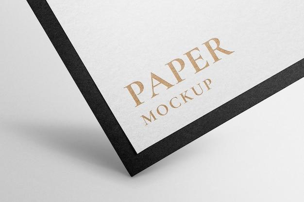 Logo mockup psd su carta intestata del marchio di identità aziendale