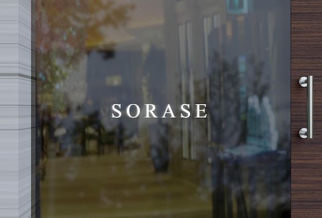 Mockup del logo sulla finestra