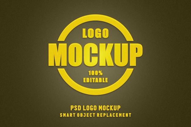 Mockup di logo con cerchio d'oro