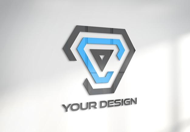 Logo sulla parete dell'ufficio mockup
