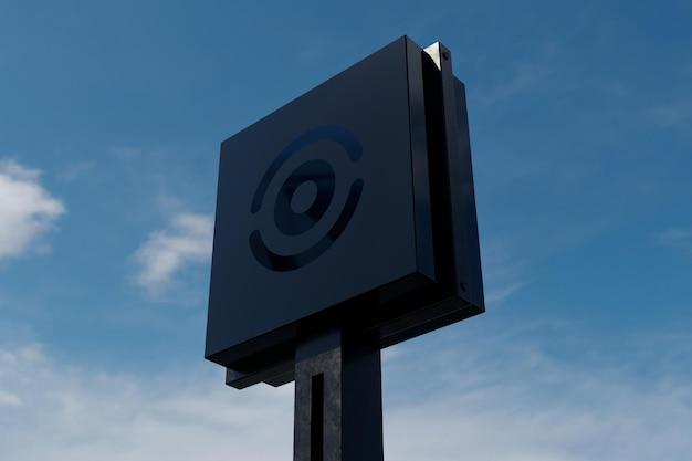 Mockup di casella segno logo