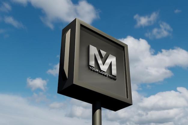 Mockup di segno del logo