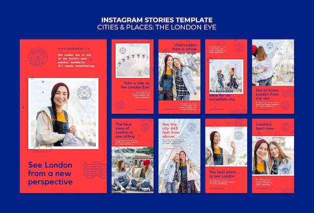 Le storie sui social media di london eye