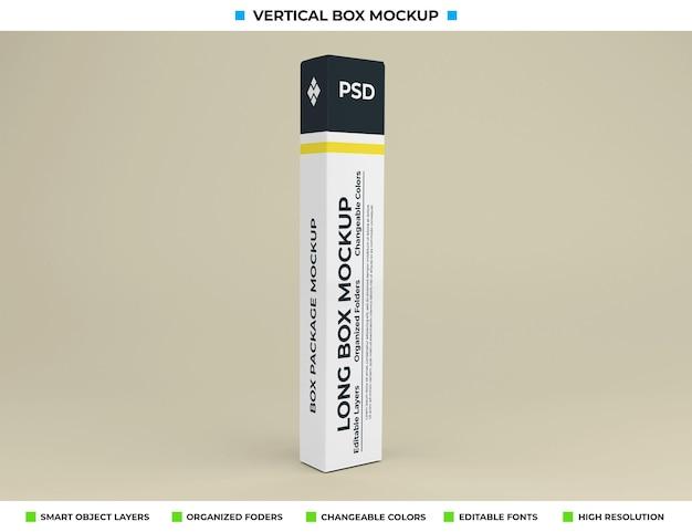 Mockup di scatola lunga per l'imballaggio del prodotto