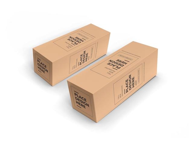 Mockup di imballaggio scatola lunga