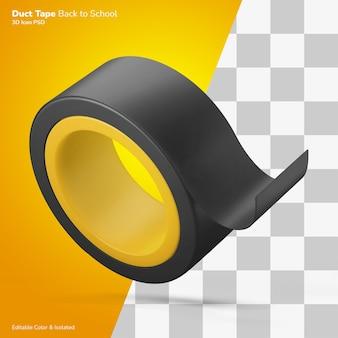 Icona dell'illustrazione 3d del nastro adesivo rettangolare lungo modificabile isolata
