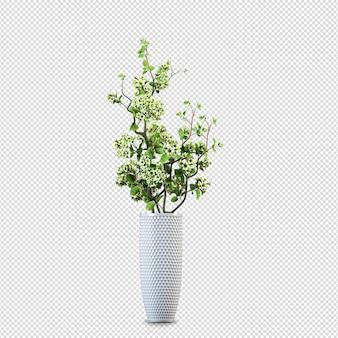Vaso di loto nella rappresentazione 3d isolata