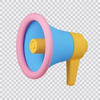 Icona dell'altoparlante isolato su bianco 3d reso image