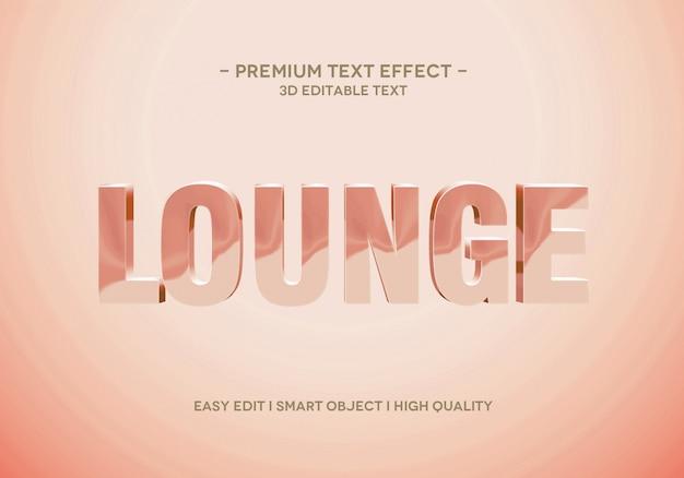 Modello di stile effetto testo lounge