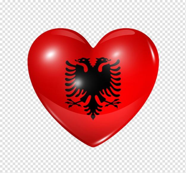 Amo l'albania, simbolo della bandiera del cuore