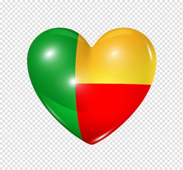 Amore benin, simbolo della bandiera del cuore