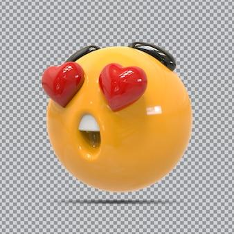 Amore emoji rendering 3d