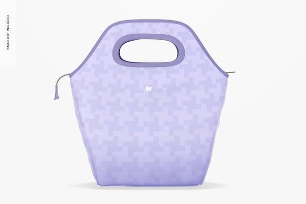 Mockup al sacco per il pranzo, vista frontale