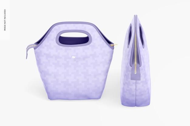 Mockup al sacco per il pranzo, vista isometrica