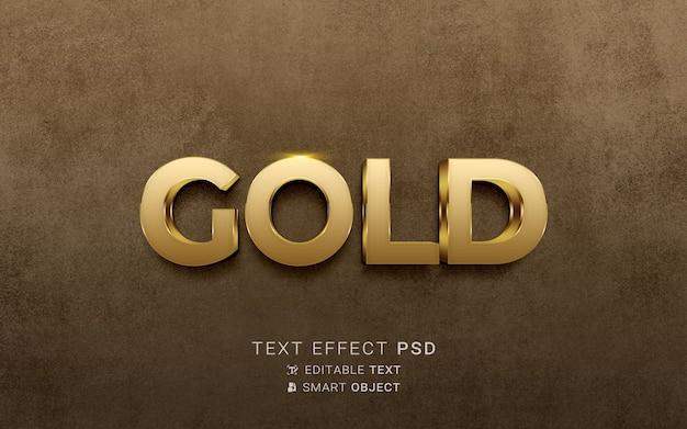 Lussuoso effetto testo dorato