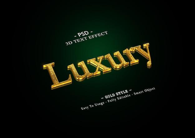Effetto di testo oro 3d di lusso