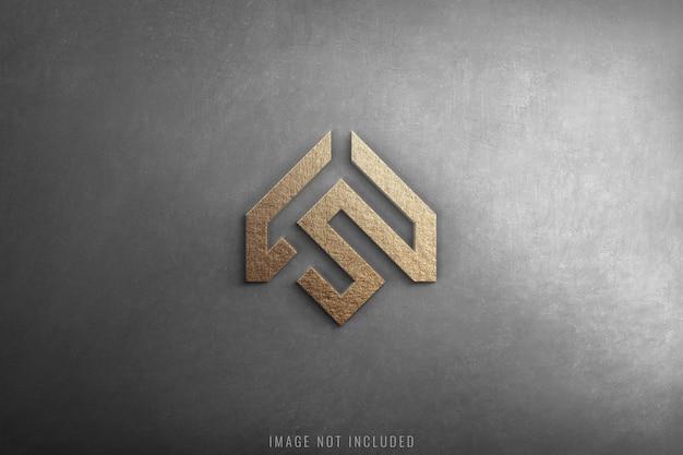 Mockup di logo 3d di lusso su struttura in cemento